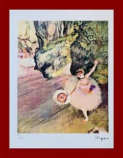 Edgar Degas - Dancer with flowers bouquet