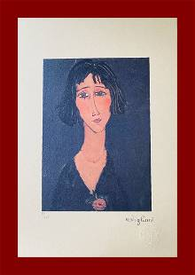 Amedeo Modigliani - Young Girl with the Rose