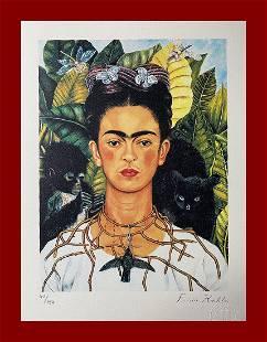Frida Kahlo - Selfportrait with Black Cat