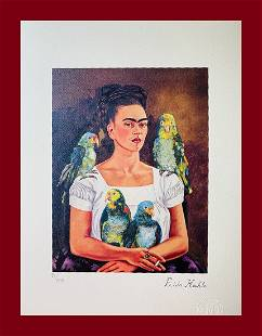 Frida Kahlo - Selfportrait with Parrots