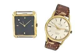 Lot of two 18 karat gold wrist watches