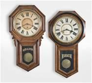 Two Ansonia Long Drop Wall Clocks