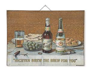 A good Richter Brewing Co. advertising sign by