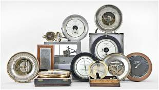 Lot of Scientific Instruments Including Barometers,