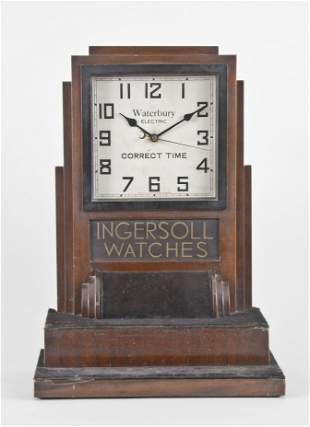 An Art Deco style Ingersoll Watches counter top display