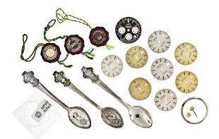 Eight Rolex Datejust dials