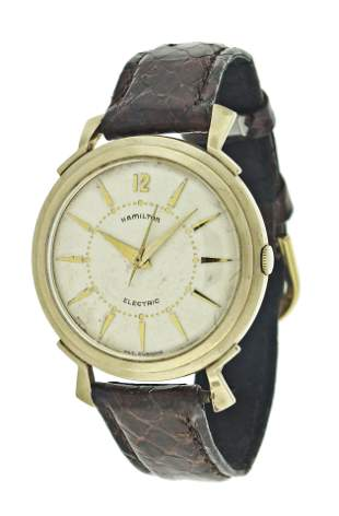 A Hamilton electric Titan model wrist watch