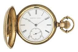 An 18 karat gold Elgin pocket watch