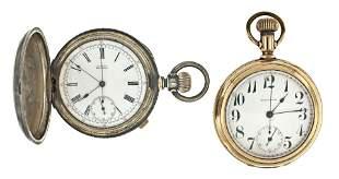 Lot of two Waltham pocket chronographs