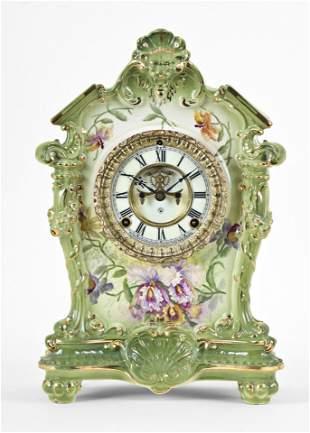 Ansonia Clock Co. La Tosca Royal Bonn mantel clock