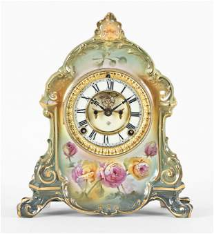 Ansonia Clock Co. La Ramba Royal Bonn mantel clock