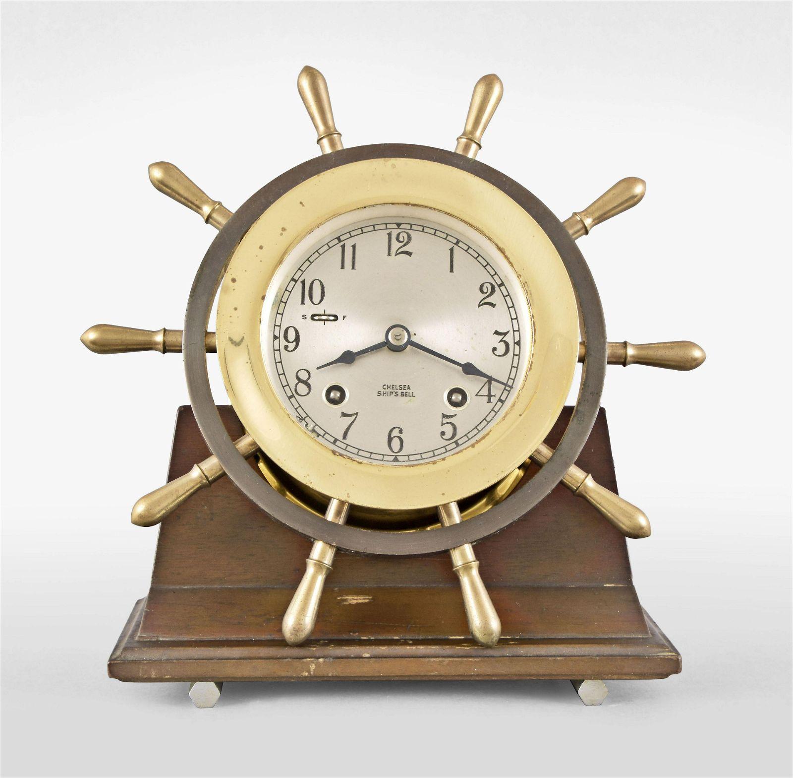 Chelsea Clock Co., Yacht Wheel ship's bell clock