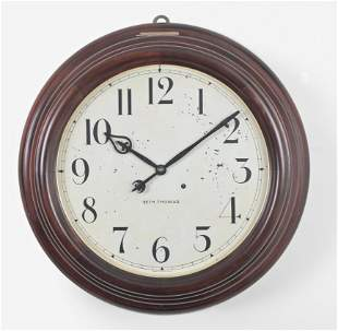 Seth Thomas Clock Co. Gallery 18-Inch wall timepiece