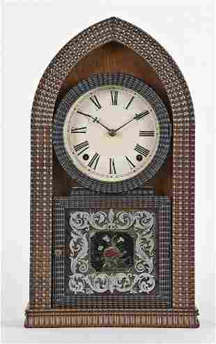 E.N. Welch Mfg. Co. ripple front beehive clock