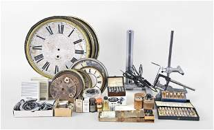 Lot of clock tools, watch tools and parts