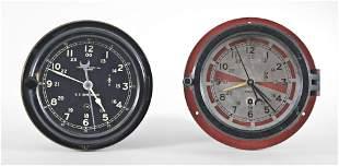 Two Chelsea Clock Co. ships clocks