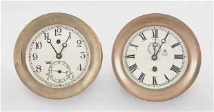 Two Chelsea Clock Co. Pilot House Wall Clocks