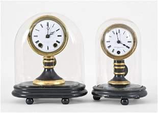 Two Seth Thomas candlestick clocks
