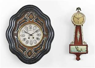 Four spring driven wall clocks