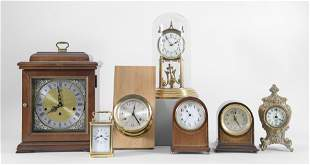 Group of seven assorted clocks