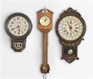 Thirteen Hanging Clocks