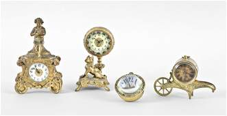 Four American Novelty Clocks