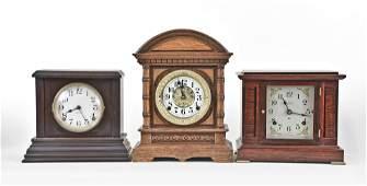 Five American mantel clocks