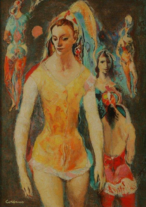 103: JON CORBINO  Ballerina in Yellow, circa 1940