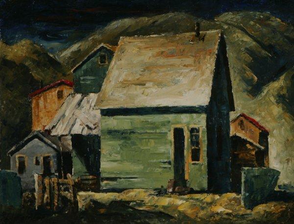 105: CLYFFORD STILL Houses Nespelem 1936