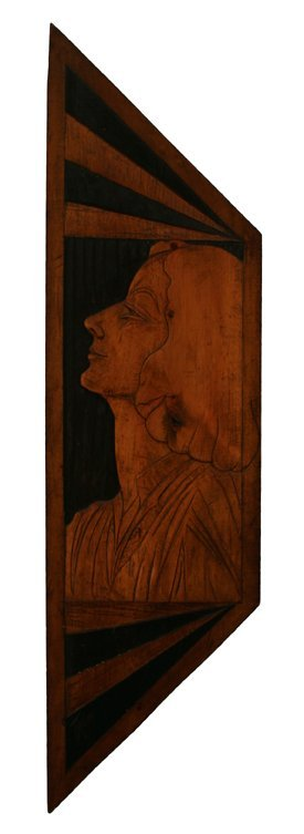 112: TUD KEMPF Portrait Gertrude Abercrombie Wood Relie
