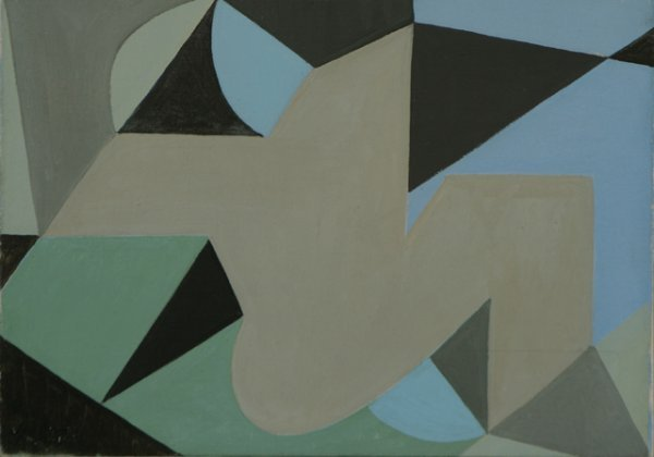 114: JOSE BERNAL Woman by Beach 1946 Modernism