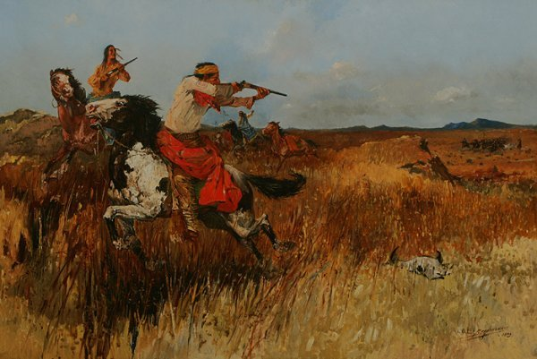 142: OSCAR BERNINGHAUS Pursuit of Geronimo Oil 1900