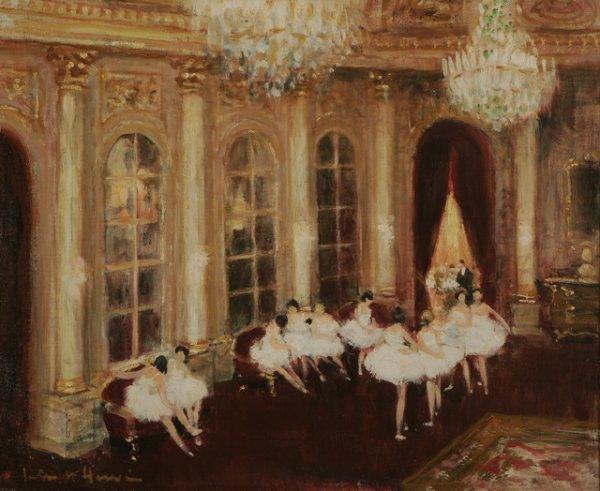 200: JULES RENE HERVE Ballerina Oil Painting