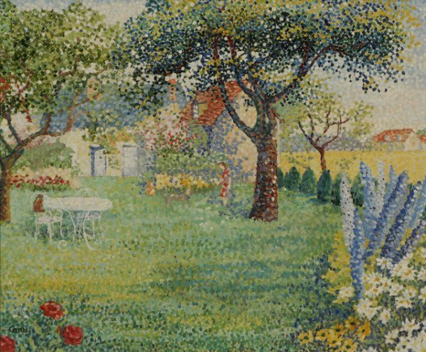 201: YVONNE CANU Garden Oil Painting