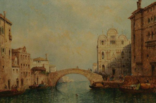 202: WILLIAM MEADOWS Venetian Canal Scene