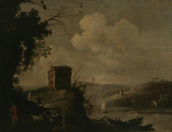 204: ITALIAN SCHOOL 18th C. Arcadian Landscape