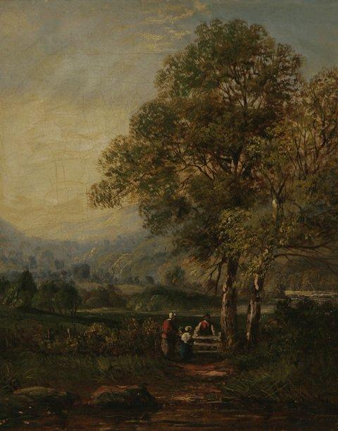 205: CONTINENTAL SCHOOL Two 19th C. Landscape