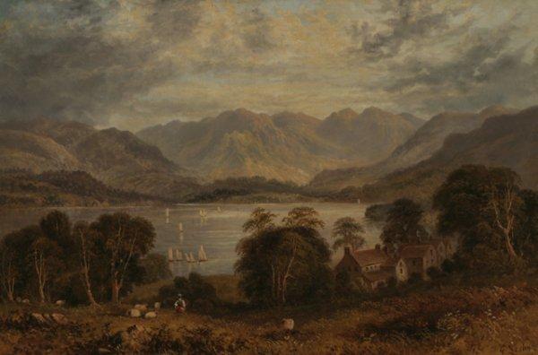 206: G. LESLIE Two 19th C. Landscape Oil
