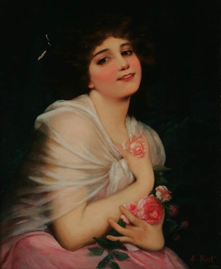 207: ETIENNE ADOLPH PIOT Portrait Oil