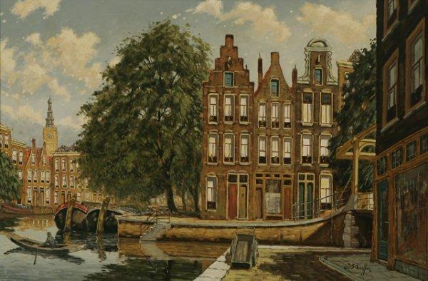 209: JAN SCHAEFFER Amsterdam Canal Oil