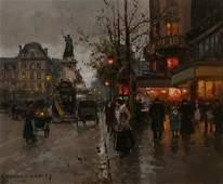 210 EDOUARD CORTES Parisian Street Scene