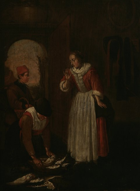 212: AFTER HEINRICH SORGH Fishmonger Oil