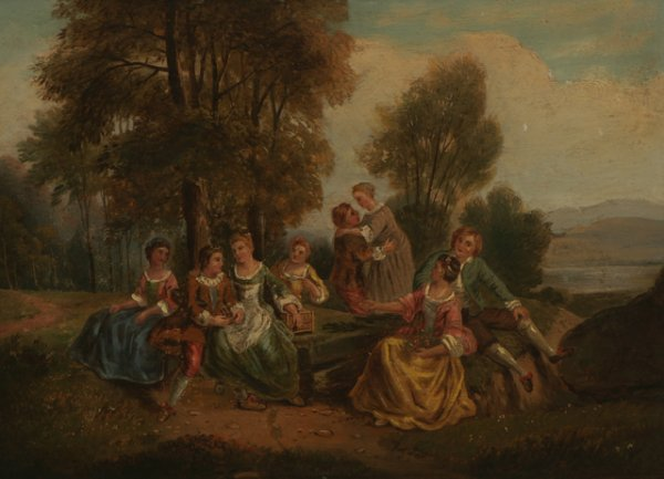 213: ATTRIBUTED TO ABRAHAM HULK Picnic Oil