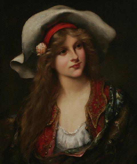 214: FRANCOIS MARTIN KAVEL Portrait Oil