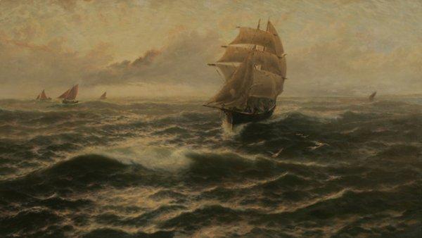 215: THOMAS ROSE MILES Ship Seascape