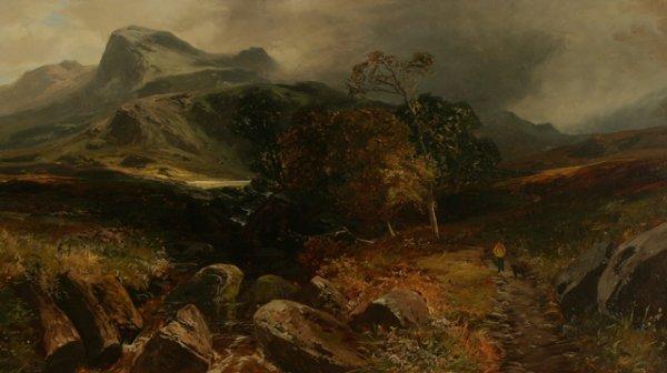 216: CLARENCE HENRY ROE Landscape Oil