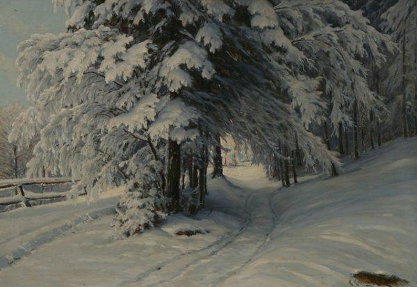 217: KONSTANTIN KRYZHITSKY Russian Winter Landscape