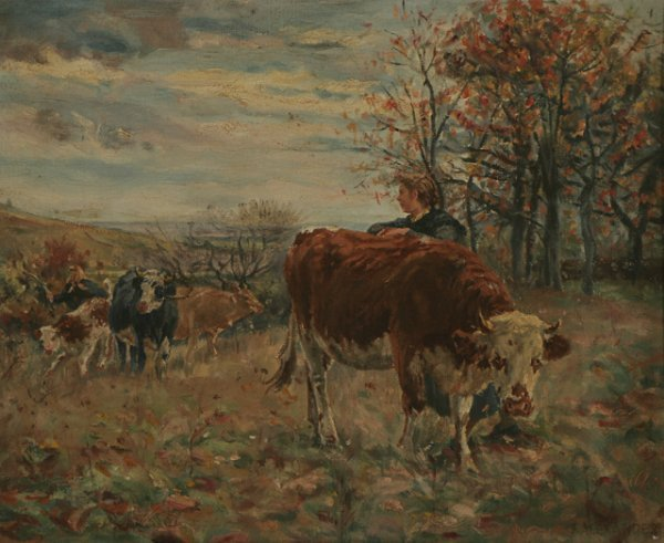 221: F. ALEXANDER 19th C. Cattle Landscape