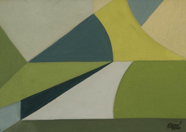 289: JOSE BERNAL Cuban Modernism 1940 Oil Painting