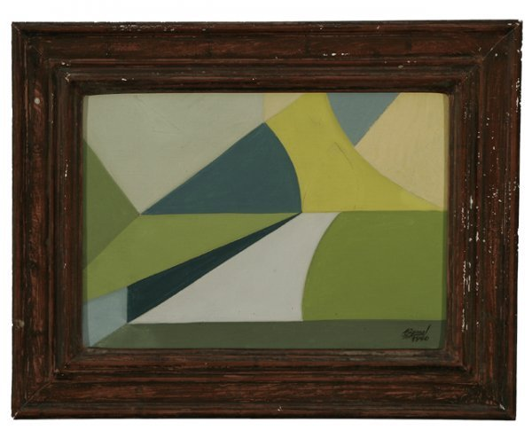 289: JOSE BERNAL Cuban Modernism 1940 Oil Painting - 2